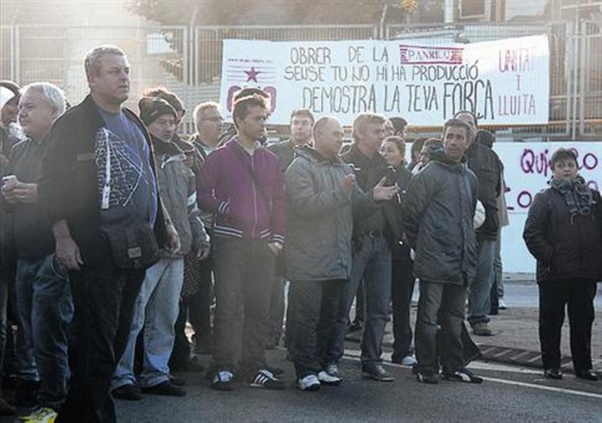 Protesta 8Corte de tráfico en Santa Perpètua, el pasado octubre.