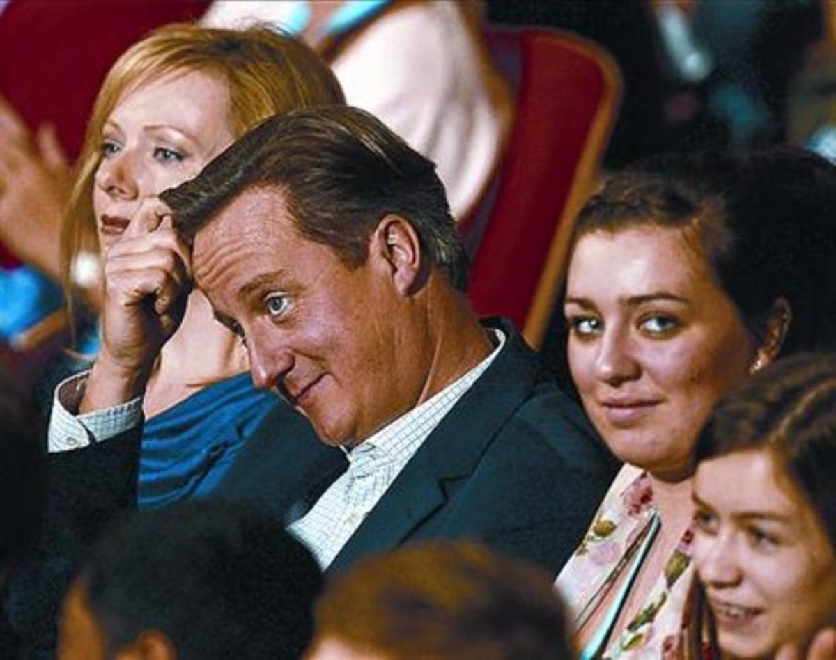 Cameron, en el congreso del Partido Conservador británico, ayer.