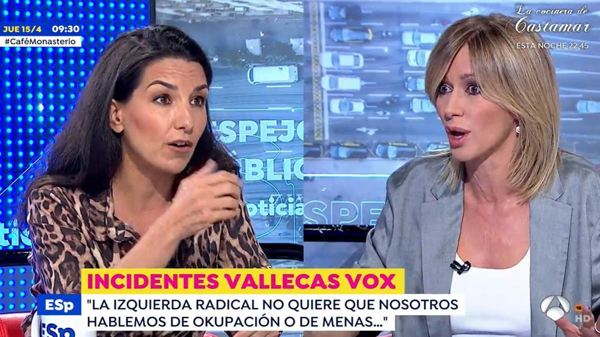 """Susanna Griso frena a Monasterio por sus palabras sobre los 'menas': """"Les tratan como animales"""""""
