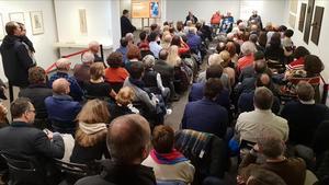 Presentación del libro 'Noscansamosde vivir bien', de Albert Soler, en la Blanquerna de Madrid.