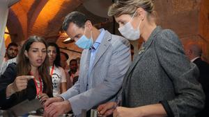 Bachar al Asad y su mujer en una foto de archivo.