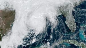 Imagen del huracán Zeta en las costas de los EEUU.