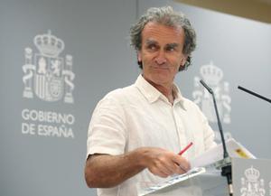 Fernando Simón, en la rueda de prensa del lunes.