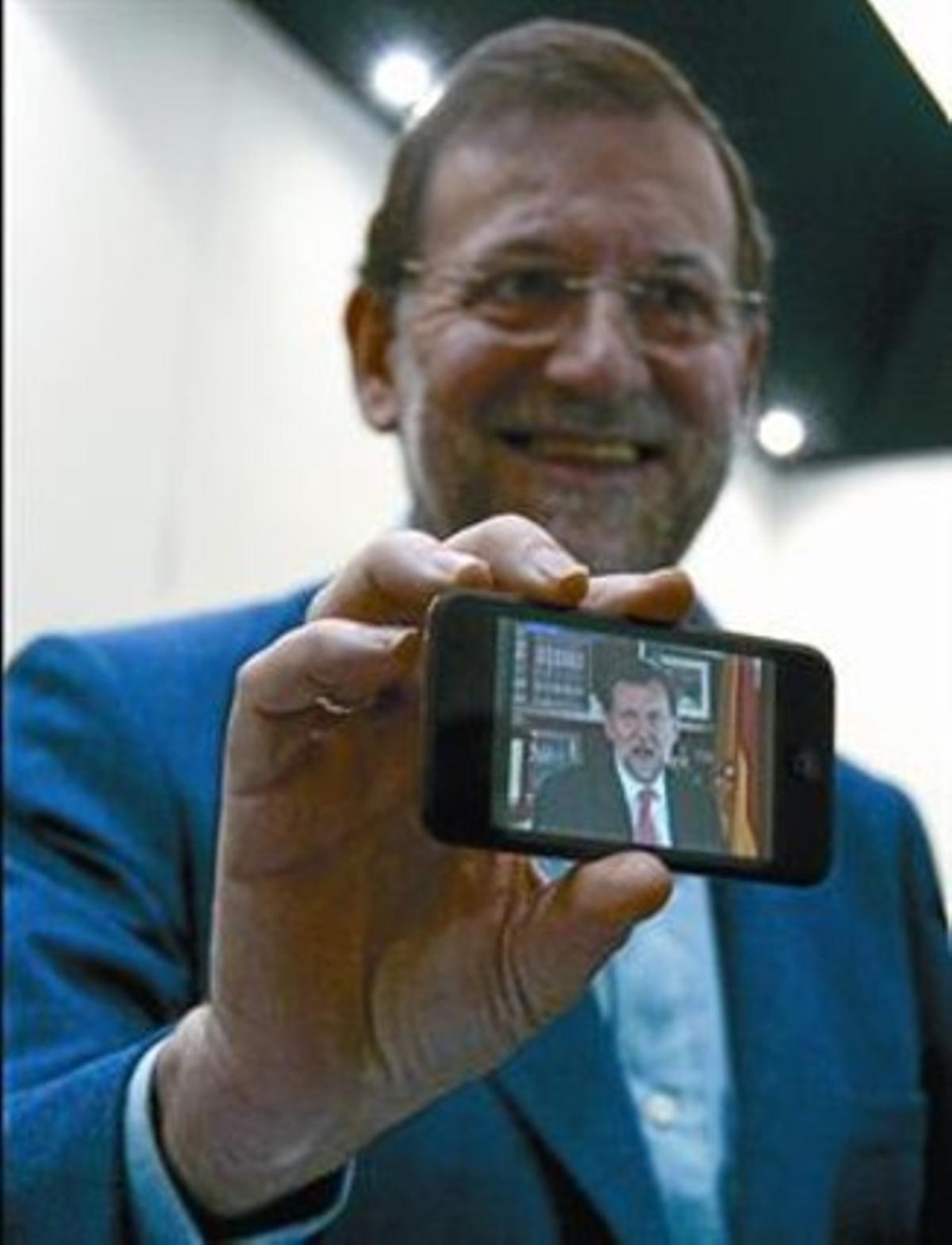 MARIANO RAJOY 3 El aspirante de los populares vive con pasión las nuevas tecnologías.