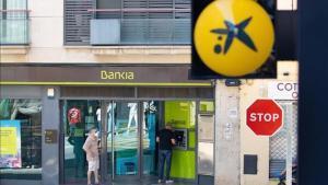 Sucursales de CaixaBank y Bankia en Sant Cugat del Vallès