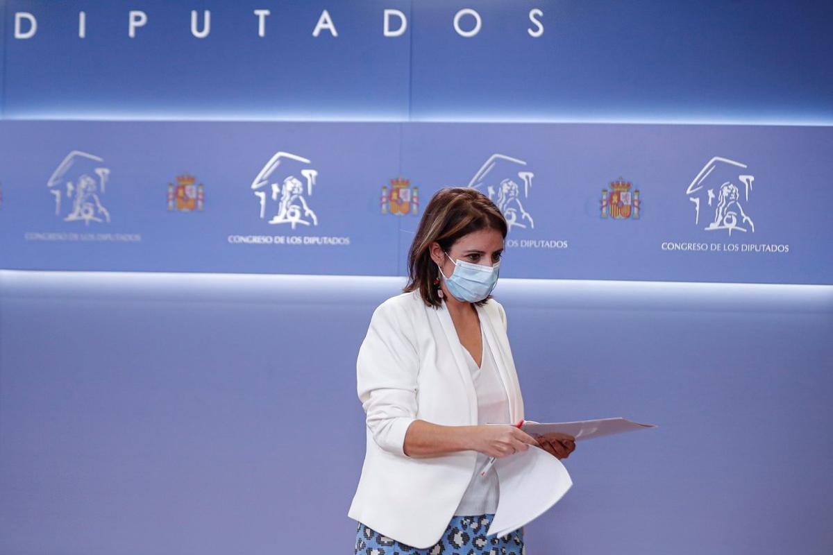 La portavoz socialista en el Congreso, Adriana Lastra, el pasado 8 de septiembre en la Cámara baja.