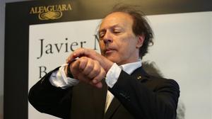 Javier Marías, en Madrid, donde ha presentado su nueva novela, 'Berta Isla'