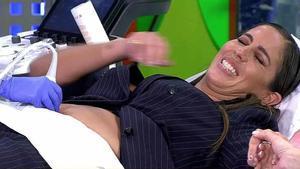 Anabel Pantoja se somete a una ecografía en directo tras su positivo en un test de embarazo