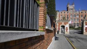 Entrada del colegio de los jesuitas de Sarrià.