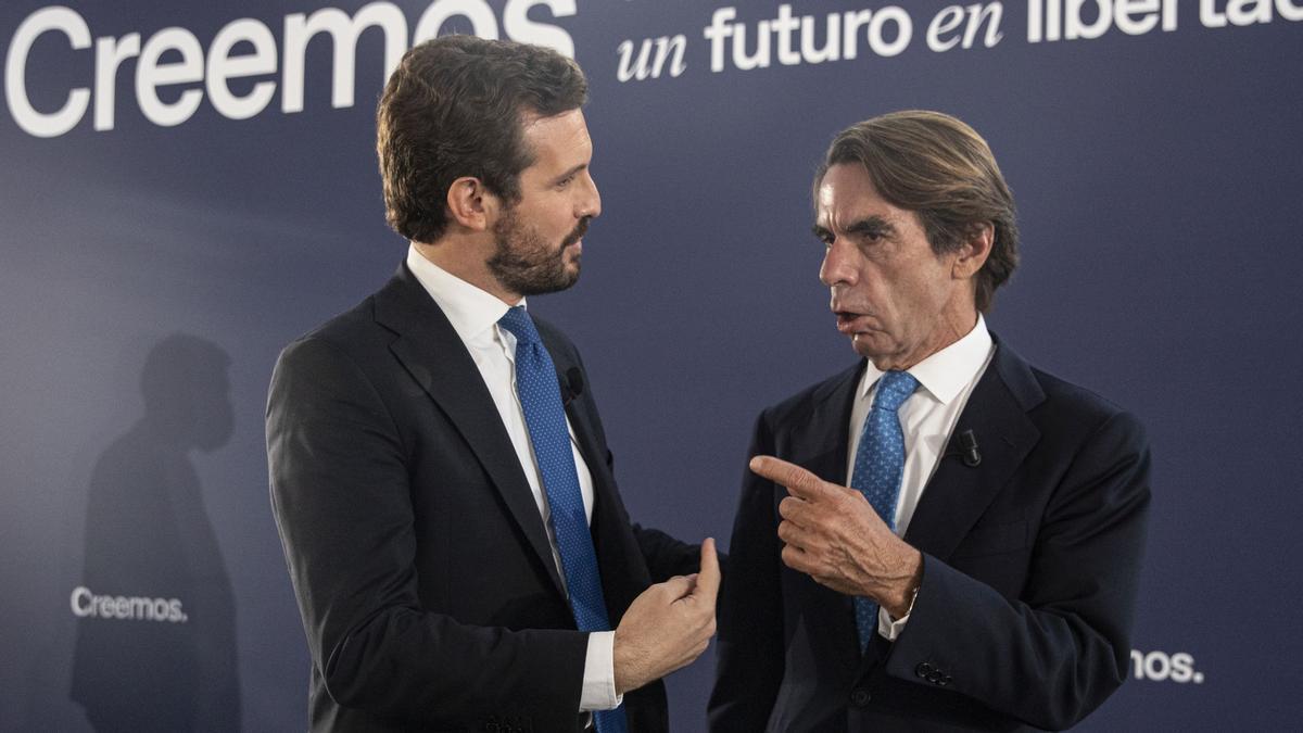 Aznar, con Pablo Casado