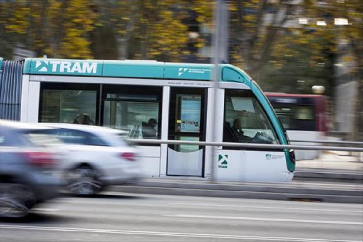 El tranvía de la Diagonal.