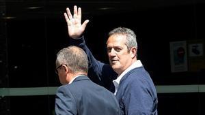 Joaquim Forn a su llegada al Ayuntamiento de Barcelona este viernes.