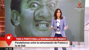 Dalí mezclado en el tema Franco (Cuatro).