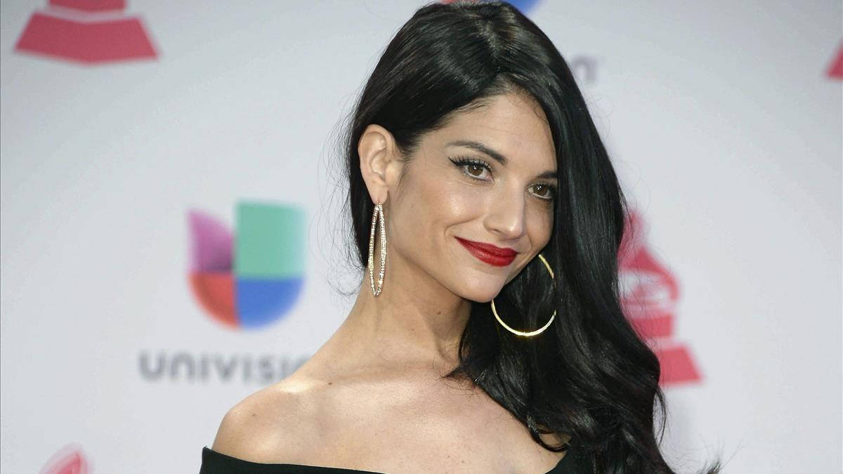 Natalia Jiménez, en los Premios Grammy Latinos celebrados en Las Vegas en noviembre del 2015.