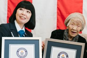 Kane Tanaka, reconocida por el Guinness como la mujer más longeva del mundo.