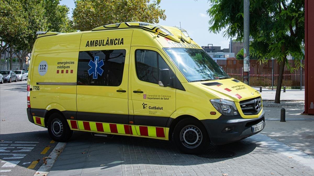 Una ambulancia del Servicio de Emergencias.