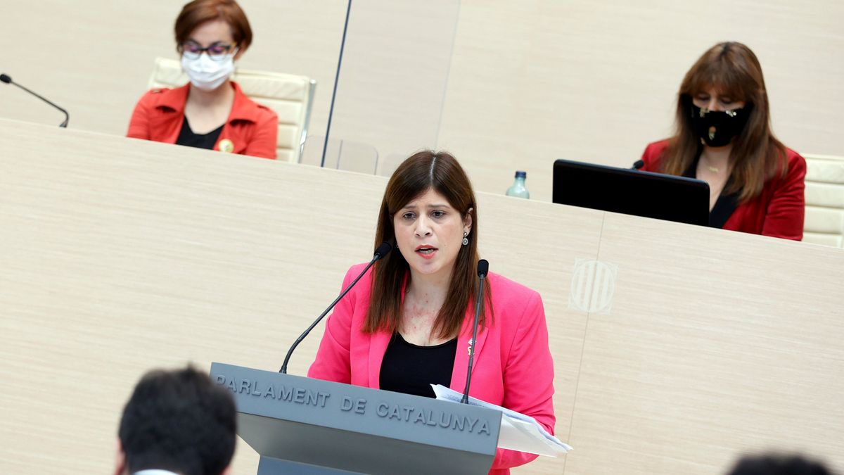 La diputada de JxCat Gemma Geis, en la segunda sesión del debate de investidura de Pere Aragonès.