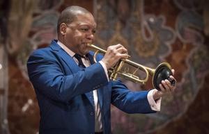 El trompetista Wynton Marsalis, en el Palau de la Música de Barcelona.