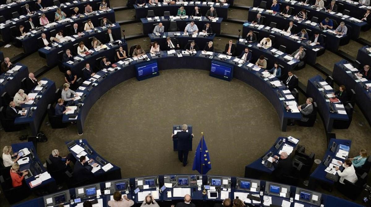 El presidente de la Comisión Europea,Jean-Claude Juncker, en su discurso sobre el estado de la Unión Europea.