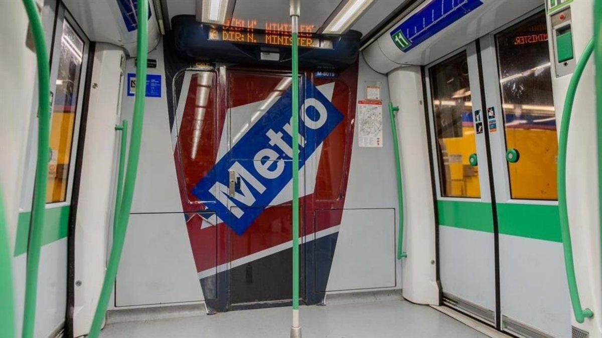 Interior del Metro de Madrid.