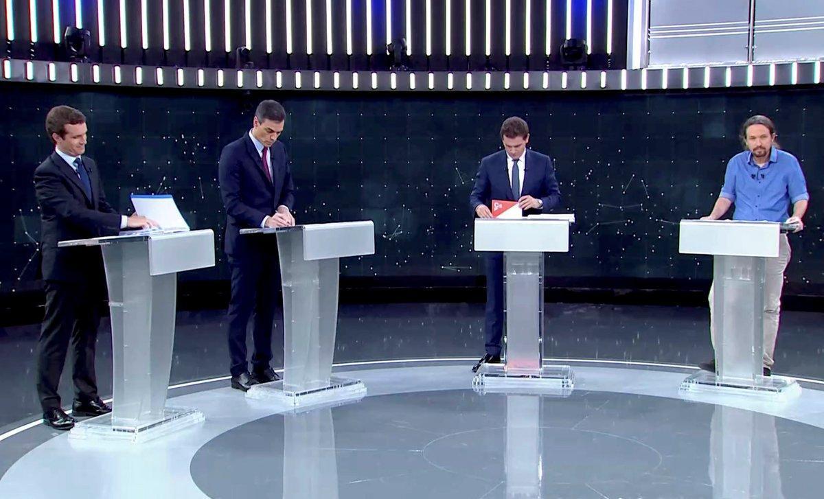 Un momento del debate electoral emitido por TVE.