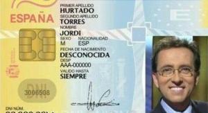 El 'supuesto' DNI de Jordi Hurtado, el eterno presentador de 'Saber y ganar'.