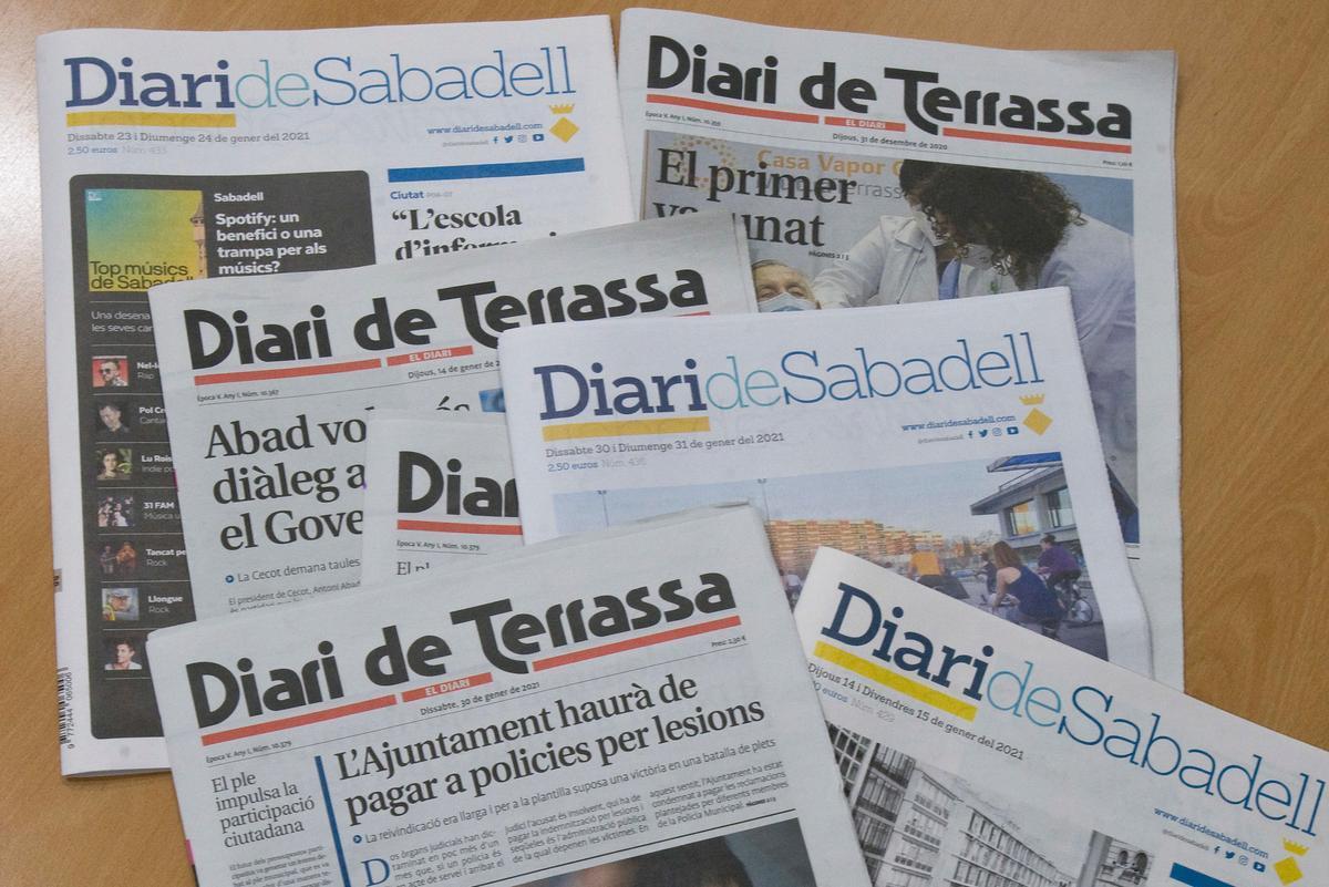 Ejemplares del Diari de Sabadell y del Diari de Terrassa