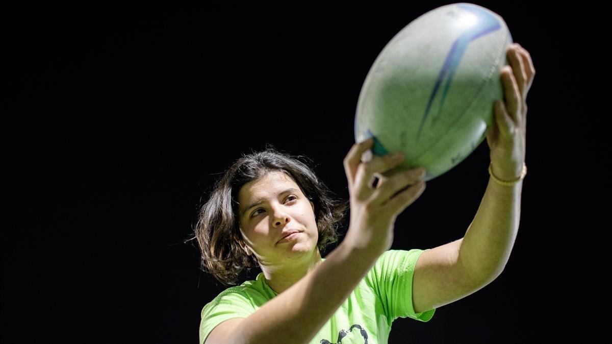 Miriam, una de las becadas del proyecto de inclusión social 'Placant Barreres' de Sabadell.