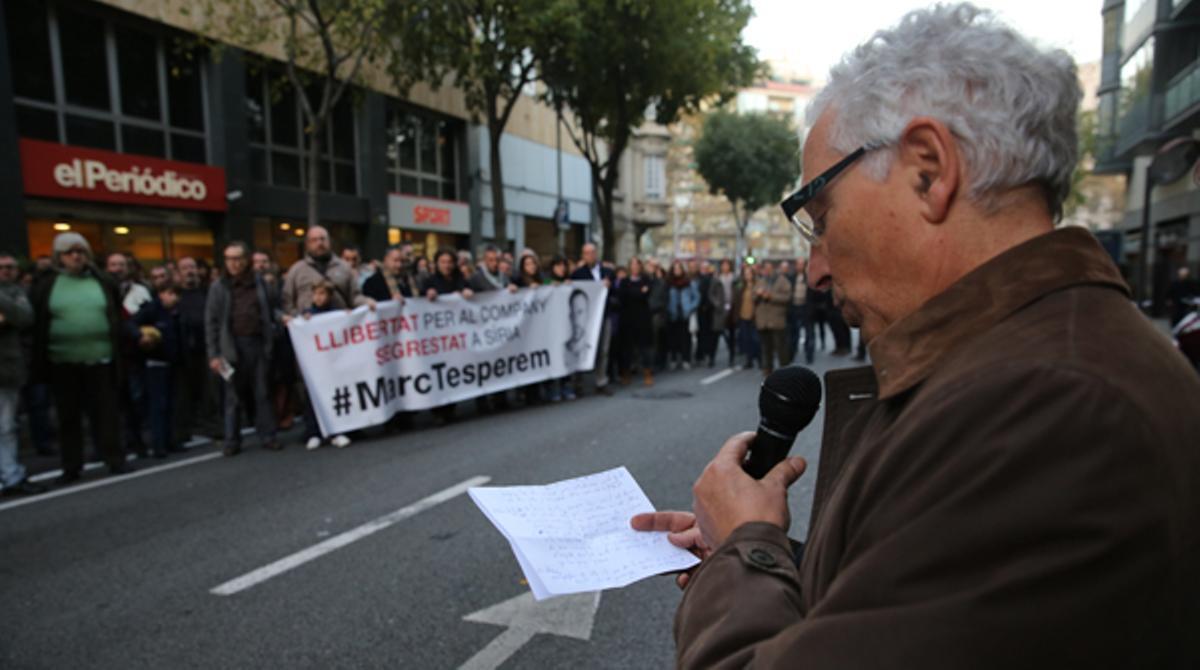 Concentración de apoyo a Marc Marginedas