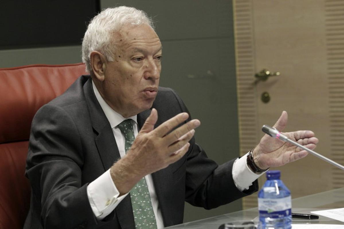 El ministre d'Exteriors, José Manuel García Margallo, dijous passat, en roda de premsa.