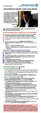 'Argumentario' para cargos del PPsobre la moción de censura a Mariano Rajoy.