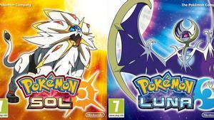 Carátulas de los juegos Pokémon Sol y Luna.