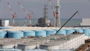 La compañía eléctrica TEPCO en la planta nuclear de Fukushima.