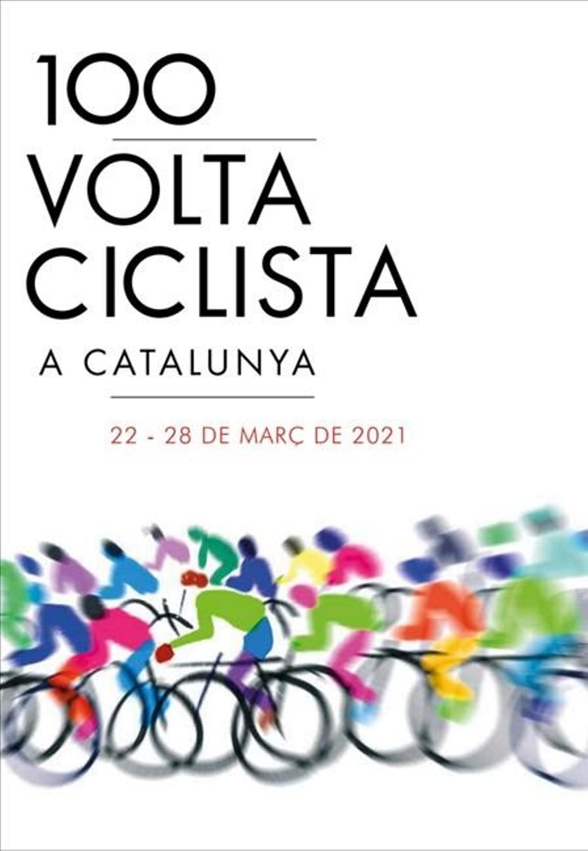 Cartel de la Volta Ciclista a Catalunya del 2021.
