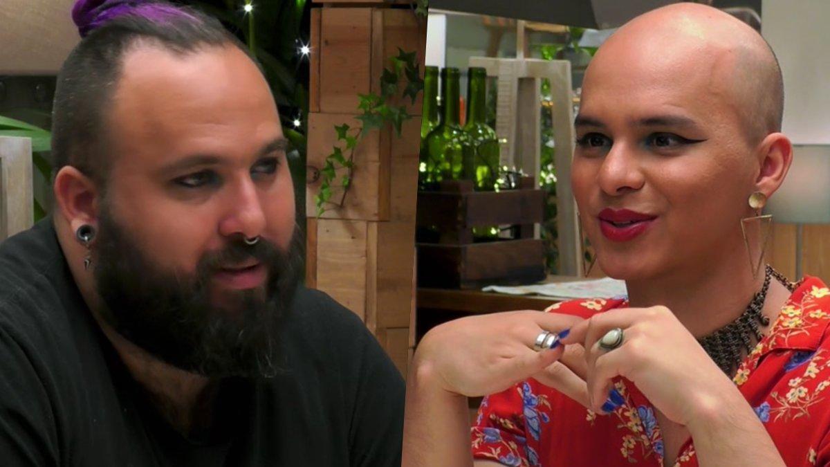 Darko y Jazmín en 'First Dates'.