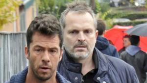 Una imagen de archivo de Miguel Bosé y Nacho Palau.