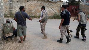 Los combatientes de la guerra en Libia.