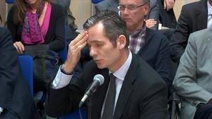 Iñaki Urdangarin en los juzgados de Palma, en febrero del 2016.