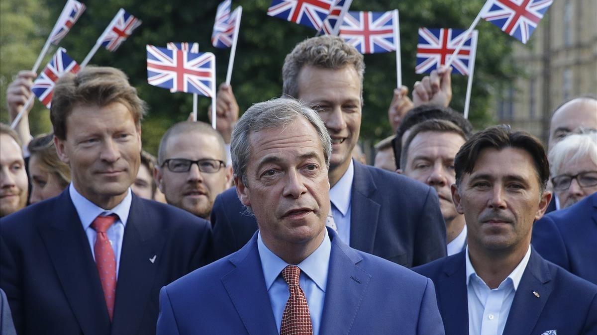 Farage, el 24 de junio del 2016, tras la victoria del 'brexit' en el referéndum.
