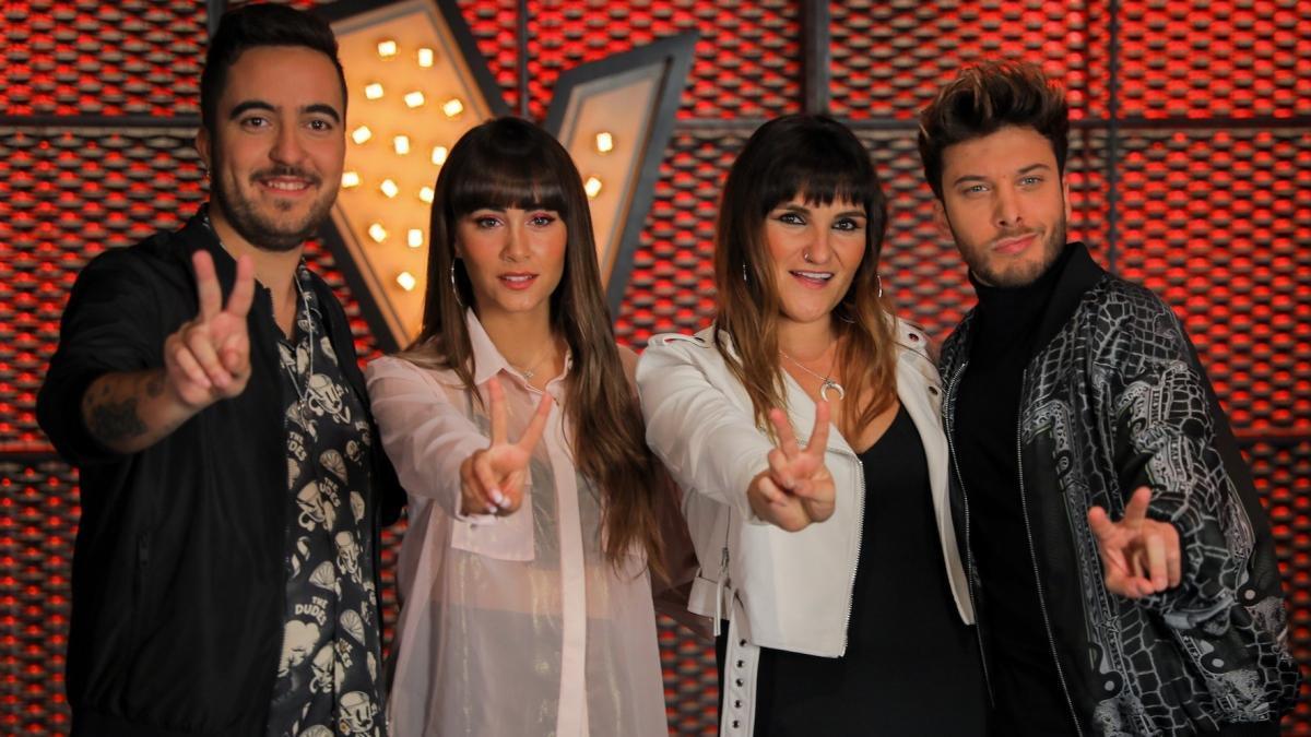 Beret, Aitana, Rozalén y Blas Cantó, asesores de 'La voz kids'.