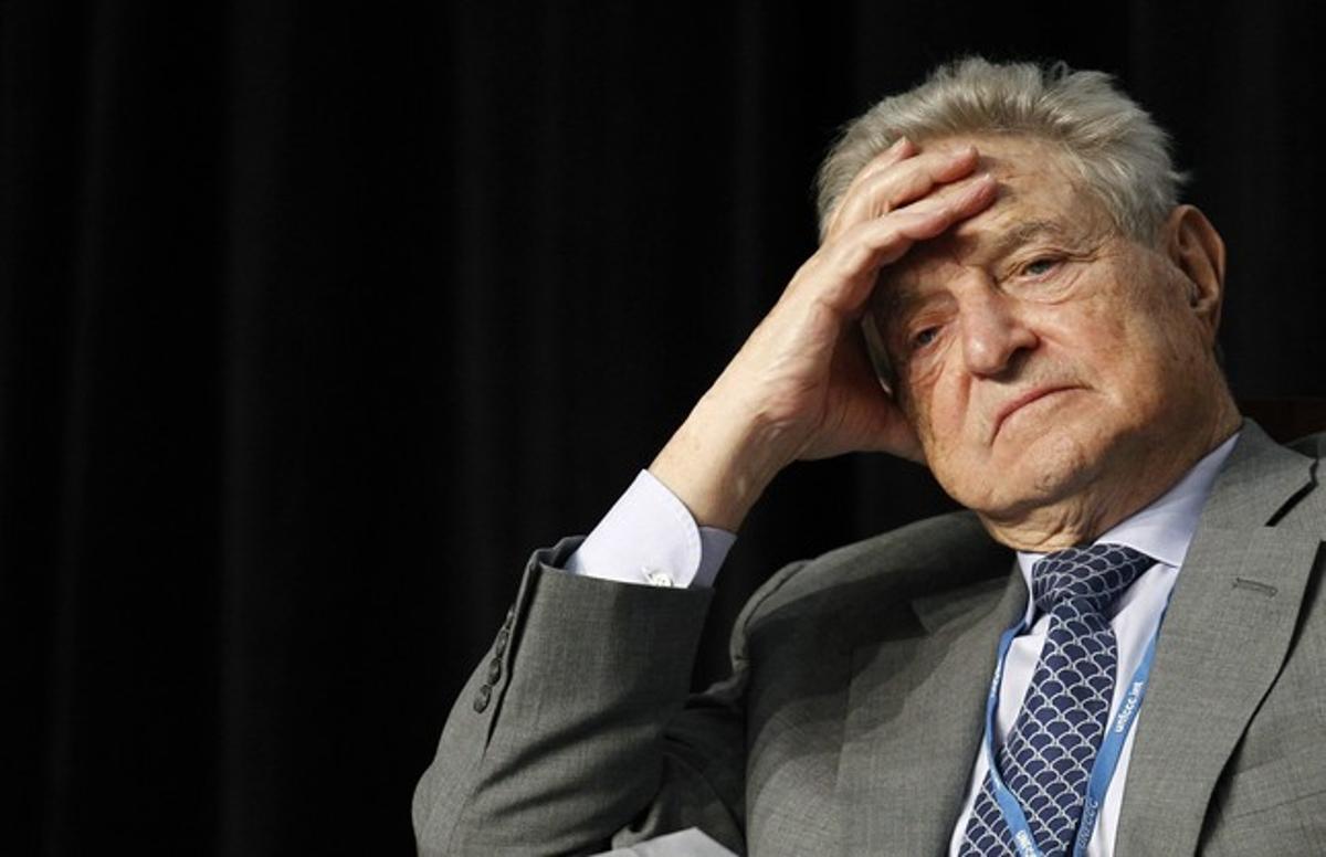El multimillonario estadounidense George Soros durante una conferencia el pasado año