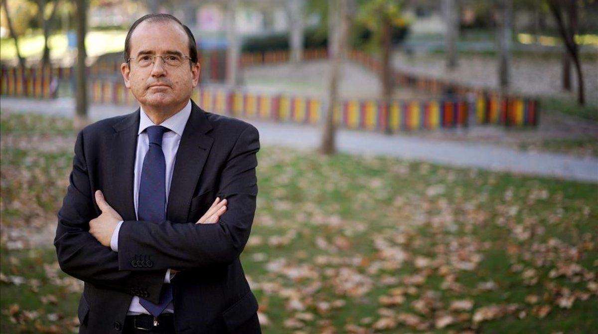 Alfonso Aguiló, presidente de la patronal de las escuelas concertadas y privadas, en Madrid.