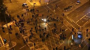 Imagen de uncorte de tráfico de la Meridiana, el 13 de marzo.