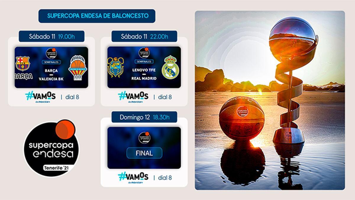Éste será el cuadro final de la Supercopa 2021.