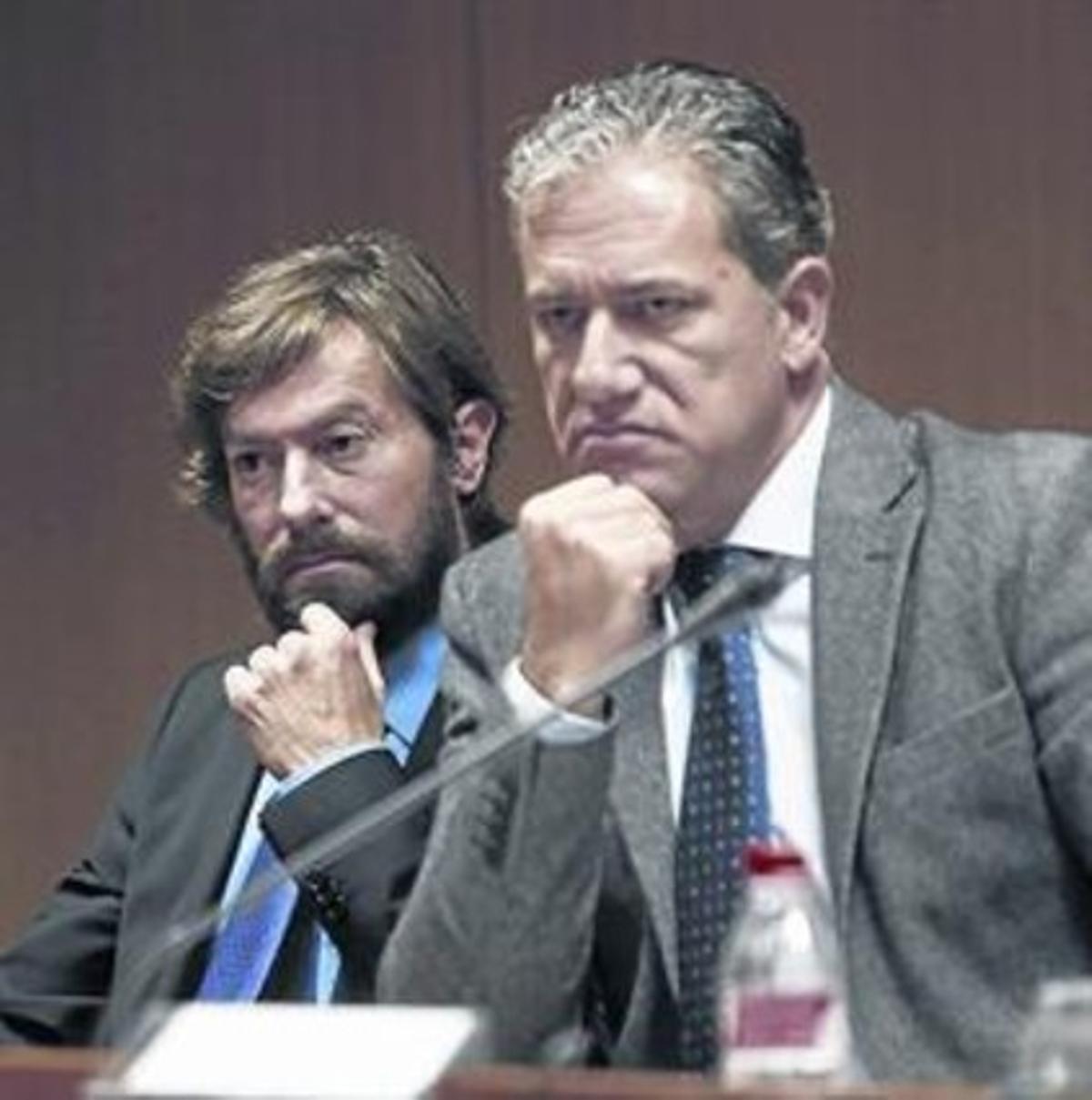 Propuestas 8 Los jueces Santiago Pedraz y Pedro Viguer, ayer.
