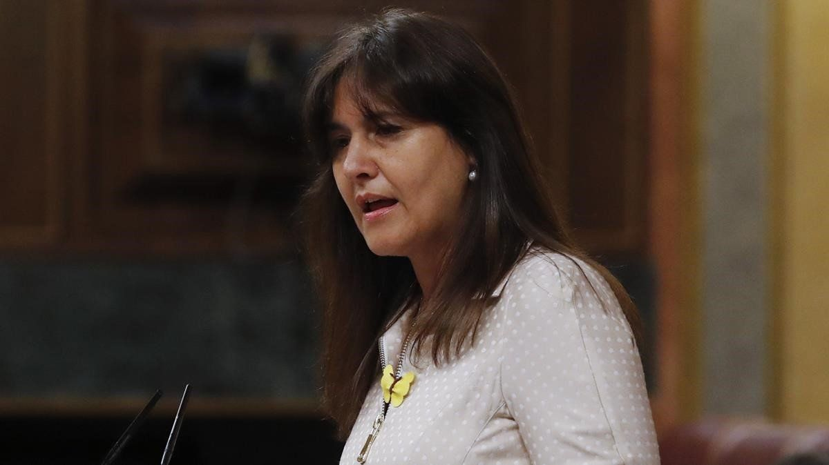 Laura Borràs en una comparecencia en el Congreso.