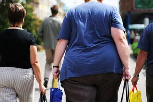 Una persona con obesidad, en una imagen de archivo