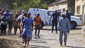 Barracas militares Monte Txota en la isla de Santiago de Cabo Verde donde se han encontrado los cuerpos sin vida de 11 personas.