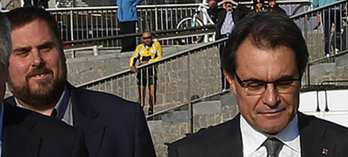 Junqueras y Mas, el 24 de noviembre, antes de las elecciones.
