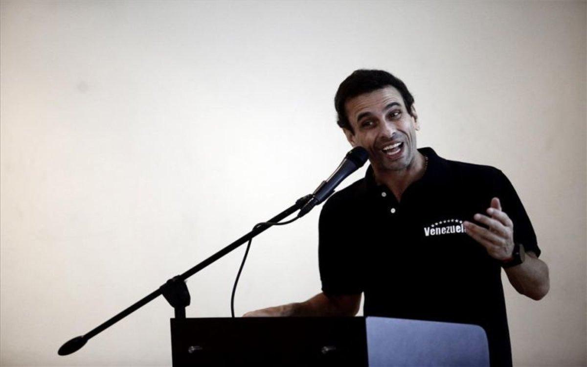 Henrique Capriles, líder opositos de Venezuela.